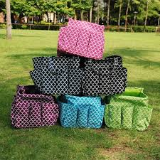 2018 whole blanks quatrefoil garden tote quatrefoil garden tool bag pouch holder bag with multi pockets storage bag dom103177 from domil