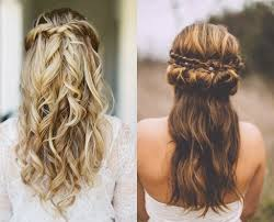half up half down hairstyles wedding. wedding half updo hairstyle classy choice of up and down hairstyles for