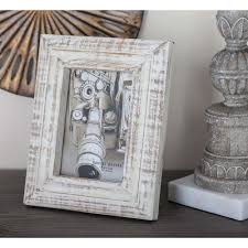 litton lane 1 opening 5 in x 7 in white wooden picture frame