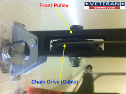 garage door opener front pulley cable