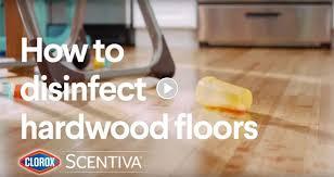 how to disinfect hardwood floors