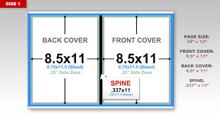the best way to setup the cover is start with the spine and and work your way out we ll start at 9 the center of the doent and create margins 1685
