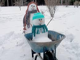 Breast Cancer Healing Backyard Snowman