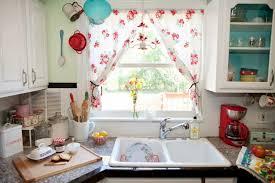 colorful Kitchen window curtains for modern kitchen design