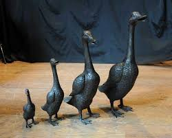 images about bronze garden statues on herons pair of