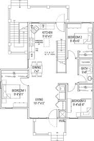 Elegant Bon Three Bedroom Flat Floor Plan.