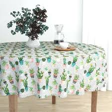 black and white polka dot tablecloth round cloth plastic