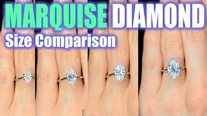 Princess Cut Diamond Size Chart On Hand Www
