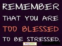 Blessed Quotes Interesting Prayables Blessing Quotes Blessings Blessed Not Stressed