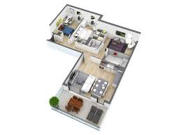 L Shaped Bedroom 25 More 3 Bedroom 3d Floor Plans