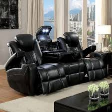 recliner with cup holder and storage. Unique Recliner Furniture Of America Contemporary Power Reclining Sofa Loveseat Recliner  Storage Armrest Cup Holders Leatherette Dark Gray USB Reading Light Couch Throughout With Holder And O