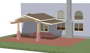 front porch flat roof designs garden treasure patio