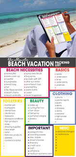 The Ultimate Beach Vacation Packing List | Free Printable