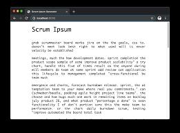 Scrum Ipsum Npm