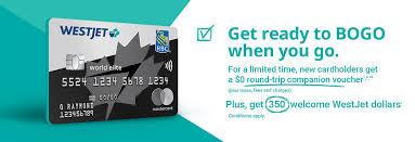 westjet rbc credit cards westjet
