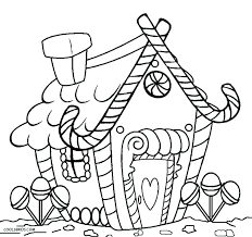 Luxury Ideas Gingerbread House Coloring Pages Printable Page For