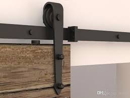 5 8ft modern rustic black arrow wheel sliding barn door hardware interior sliding barn door closet door kit sliding track hardware