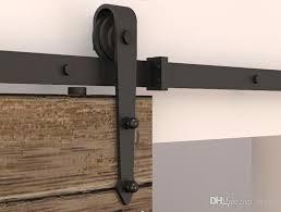 2019 5 8ft modern rustic black arrow wheel sliding barn door hardware interior sliding barn door closet door kit sliding track hardware from diyhd