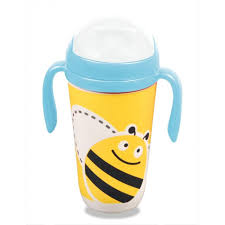 <b>Поильник Eco-baby бамбуковый</b> с соломинкой Пчелка 350 мл ...