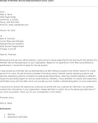 Cover Letter Customer Service Job Example Of Cover Letter For