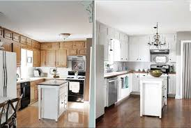 painted white kitchen cabinets before and after. Terrific Painted Kitchen Cabinets Before And After Ideas Painted White Kitchen Cabinets Before And After E