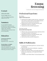 Extended Resume Template Customer Service Resume Template Venngage