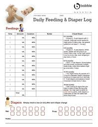 Daily Feeding Chart For Babies Baby Feeding And Diaper Log Baby Feeding Chart Baby