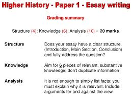 higher history essay layout instructions essay structure