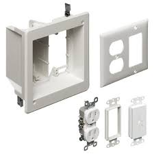 arlington tvbrk tv box recessed kit outlet and wall from the manufacturer recessed tv box components