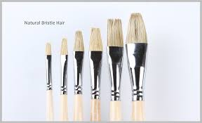 golden maple brand high quality whole bristle hair oil painting brushes sets
