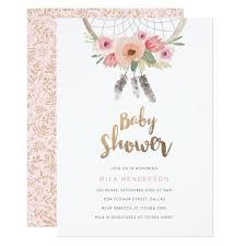 Dream Catcher Baby Shower Invitations Dream Catcher Baby Shower Invitation Zazzle 2