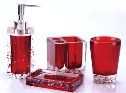 Black And Red Bathroom Decor Fascinating Red Bathroom Accessories