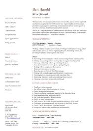 Resume Examples For Receptionist Jmckell Com
