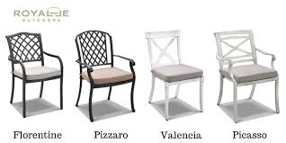 cast aluminium chairs from royalle