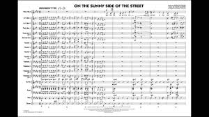 On The Sunny Side Of The Street Arranged By Mark Taylor