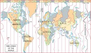 Time Map World Time Zones Map