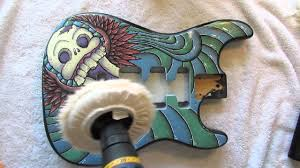 Guitar Body Paint Designs How To Paint Your Guitar Part 8