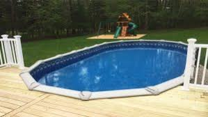 above ground pools with decks. Delighful With Above Ground Pools Come With Wall Heights Of 48u201d 52u201d And 54u201d  Manufacturers Construct Their Different Sized Parts So Even If A Pool Measures  And Ground Pools With Decks