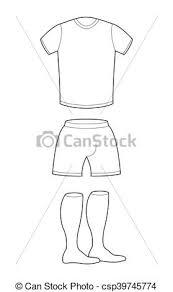 Shorts Design Template T Shirt Shorts And Socks Template For Design Sample For Sports Clothing Soccer Football Shape Blank Curve