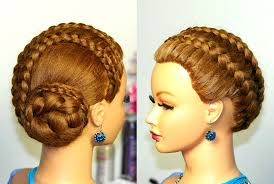 French Braid Updo Hairstyles Braided Updo Hairstyle For Long Hair French Braids Youtube