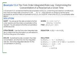 example 13 4 the first order integrated rate law determining the