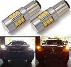 Car Turn Signal Lights 1157 3157 7443 White Amber Switchback Led Car Drl Turn Signal Light Bulb 2 Pack