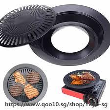 Portable Korean Outdoor Smokeless Barbecue Gas Grill ... - Qoo10