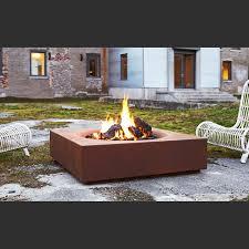 caldera corten™ steel modern outdoor firepit  paloform