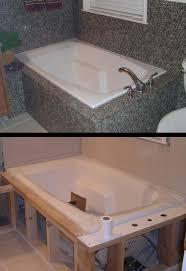 granite tub surround remodel with trim pieces