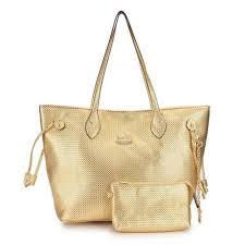 Coach City Knitted Medium Gold Totes DZN