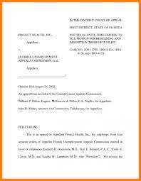 Unemployment Appeal Letter Template Business