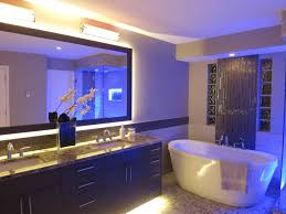 modern bathroom lighting luxury design. Decoration: Charming Bathroom With Yellow Led Lights In Marble Top Vanity Design Completed Sweet Modern Lighting Luxury T