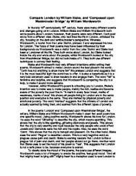 compare london by william blake and composed upon westminster  page 1 zoom in