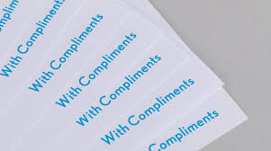 Compliment Slips Template Compliment Slips Compliment Slip Printing Print Company